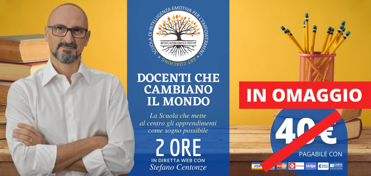 Docenti che cambiano il Mondo - Evento Online con Stefano Centonze